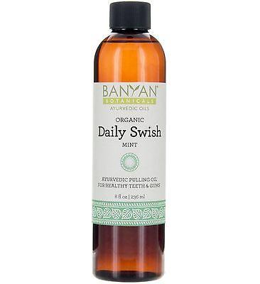 Daily Swish Oil Pulling, Organic 8 fl oz - Banyan Botanicals