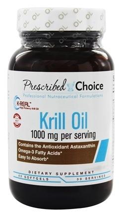 Krill Oil, 1000mg -  60 Softgels - Prescribed Choice