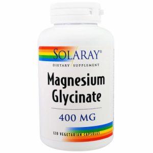 Magnesium Glycinate 400 mg 120 Veggie Caps Solaray