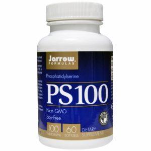 PS100, Phosphatidylserine, 100 mg, (soy free) 60 Softgels - Jarrow Formulas