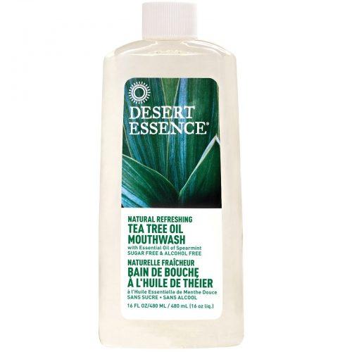 Natural Refreshing Tea Tree Oil Mouthwash, Alcohol Free, 16 fl oz (480 ml) - Desert Essence