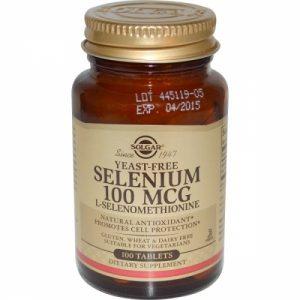 Selenium 100mcg 100 tabs yeast-free Solgar