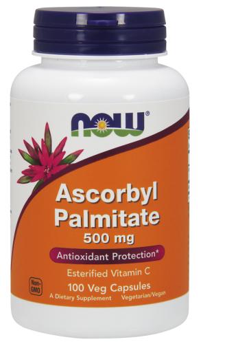 Ascorbyl Palmitate, 500 mg, 100 Veggie Caps - Now Foods