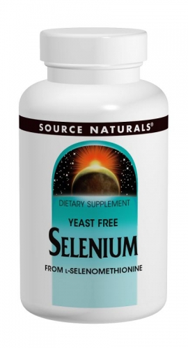 Selenium Yeast Free 200mcg 60 tabs Source Naturals