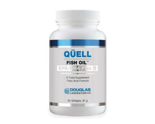 Quell Fish Oil, High EPA+DHA w/ Vitamin D3, 60 softgels - Douglas Labs