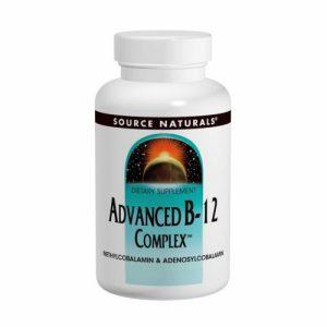 Advanced B-12 / B12 Complex, 5 mg, 60 Lozenges - Source Naturals