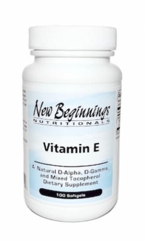 Vitamin E (100 soft gels) - New Beginnings