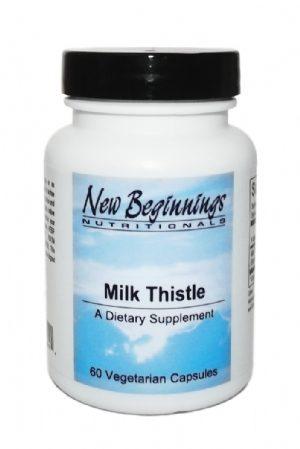Milk Thistle 200 mg-60 capsules New Beginnings