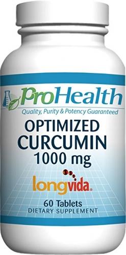 Optimized Curcumin Longvida® - 1000 mg, 60 tablets - ProHealth