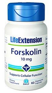 Forskolin - 10mg - 60 vegetarian capsules - Life Extension