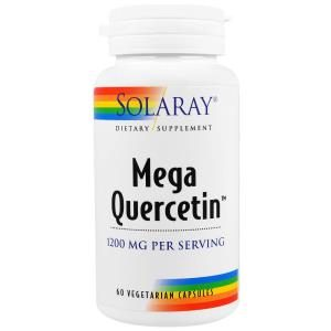 Mega Quercetin, 1200 mg, 60 Veggie Caps - Solaray