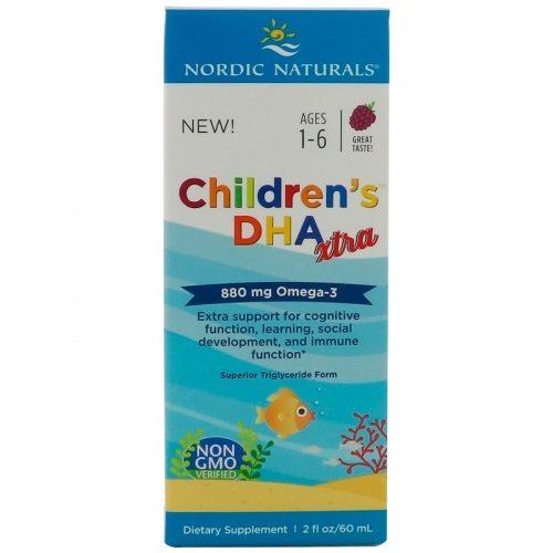 Children's DHA Xtra, Berry Punch, 2 fl oz (60 ml)- Nordic Naturals