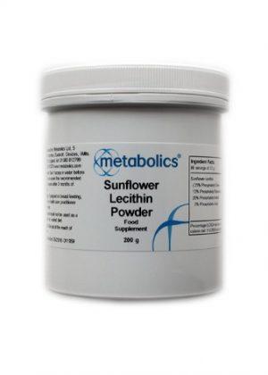 Sunflower Lecithin Powder (Pot Of 200g)- Metabolics