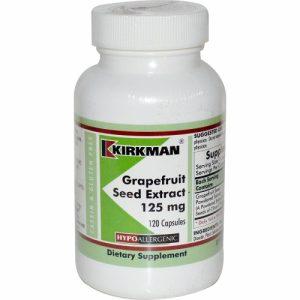 Grapefruit Seed Extract (125mg) - 120 caps - Hypoallergenic - Kirkman