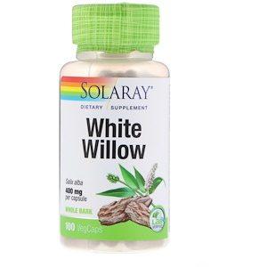 White Willow, 400 mg, 100 VegCaps - Solaray