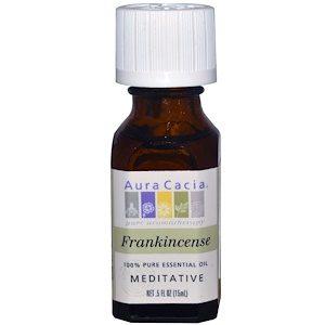 Frankincense, Meditative, 100% Pure Essential Oil .5 fl oz (15 ml) - Aura Cacia