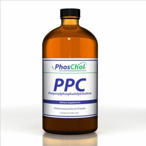 PhosChol Liquid Concentrate (PC (Phosphatidyl Choline / Phosphatidylcholine) 3000mg - 8oz - Nutrasal