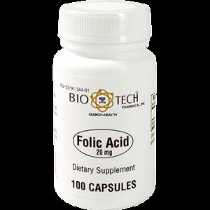Folic Acid 20 mg 100 caps - Bio-Tech