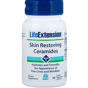 Skin Restoring Ceramides, 30 Liquid Vegetarian Capsules -  Life Extension