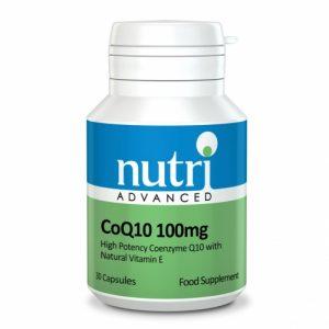CoQ10 100mg 30 Caps - Nutri Advanced