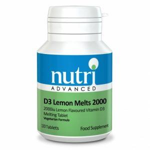 D3 Lemon Melts 2000 120 Tablets - Nutri Advanced