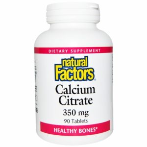 Calcium Citrate (350mg) - 90 Tablets - Natural Factors