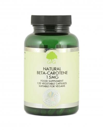 Natural Beta-Carotene 15mg 120 Caps - G&G Vitamins