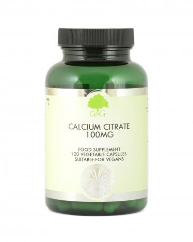 Calcium Citrate 100mg 120 Capsules - G&G Vitamins