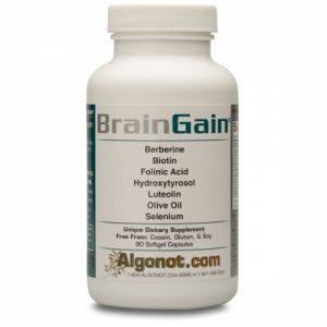 BrainGain 90 Gelcaps - Algonot