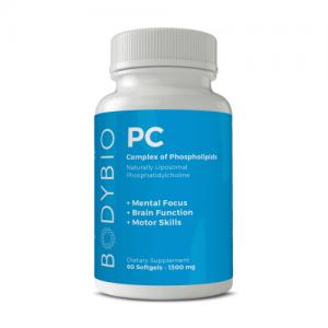 PC (Phosphatidyl Choline) 60 Softgels - 1300mg- BodyBio