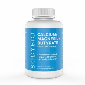 Butyrate Cal-Mag (Calcium/Magnesium) - 250 Capsules - Bodybio