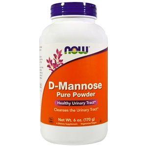 D-Mannose Pure Powder, 6 oz (170g) - Now Foods