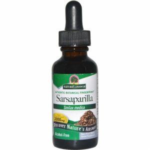 Sarsaparilla, Alcohol-Free, 2000 mg, 1 fl oz (30ml) - Nature's Answer