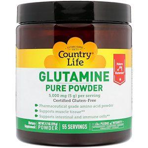 Glutamine Pure Powder, 5,000mg, 9.7oz (275g) - Country Life