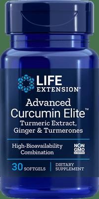"Advanced Curcumin Eliteâ""¢ Turmeric Extract, Ginger & Turmerones - 30 softgels - Life Extension"